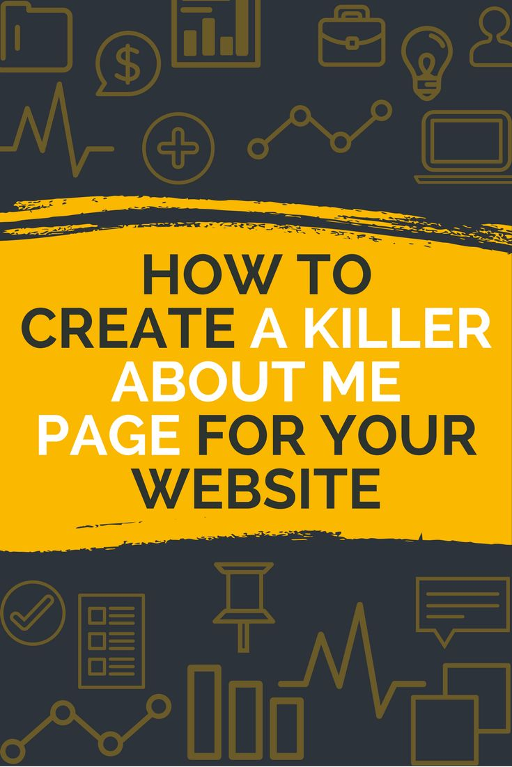 The Anatomy of a Killer About Me Page