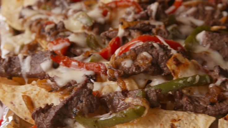 Philly Cheesesteak Nachos  - Delish.com OR... just throw it in a sandwich roll, with a side of tortilla chips!