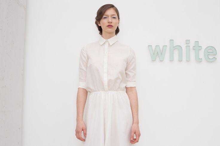 krakora SS15 white shirt dress // photo: Lukas Dohnal // White Gallery >> www.whitegallery.cz