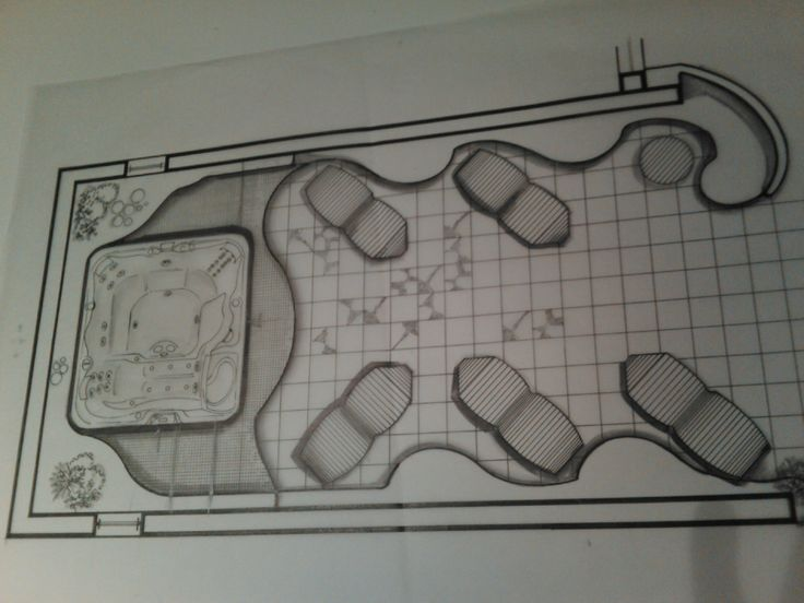 ground plan for the out side area for hotel in santorini !!!!!
