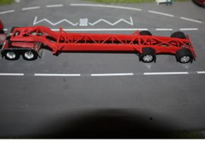 000051 USA Tank Container Trailer HO in White Strong & Flexible Polished