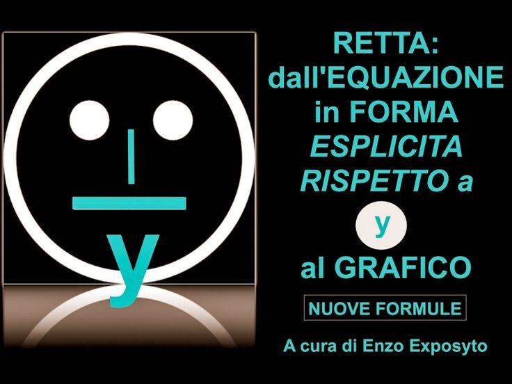 RETTA: dall'EQUAZIONE in FORMA ESPLICITA RISPETTO a y al GRAFICO - 3 …