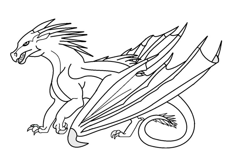 Wings of fire dragon head outline wings of fire jade for Wings of fire coloring page