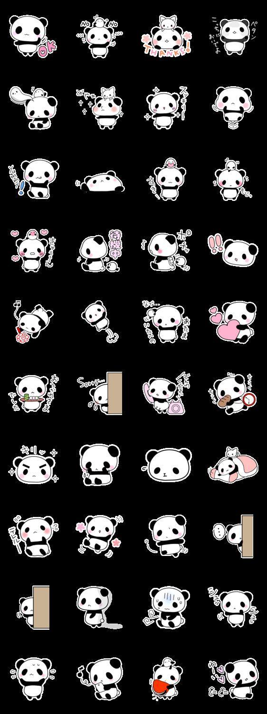 Panda Stickers: