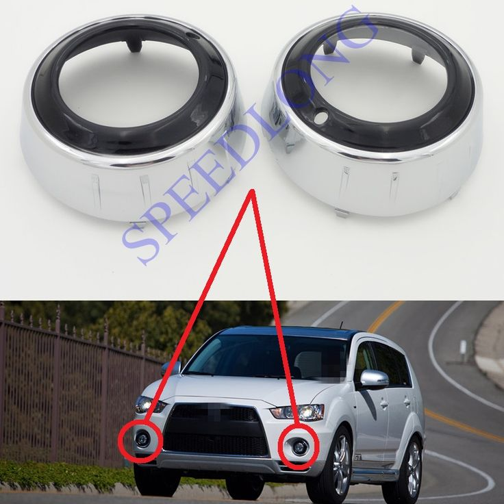 ==> [Free Shipping] Buy Best 2 Pcs/Pair RH and LH electroplate chrome front fog lamp light covers bezels for Mitsubishi Outlander GT 2009-2010 Online with LOWEST Price | 32695576027