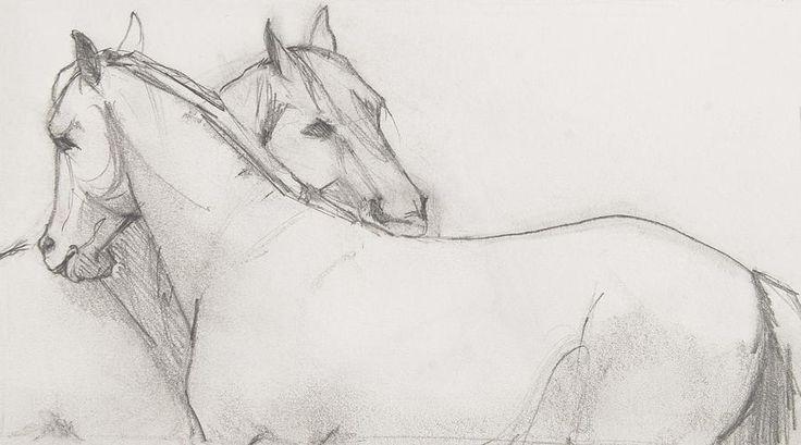 Horse sketch by Jani Freimann