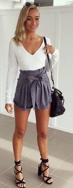 #muraboutique #label #outfitideas | White + Grey + Pop Of Black