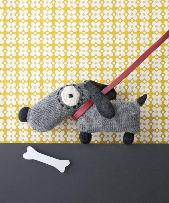doudou basset tricoté le temps apprivoisé