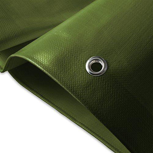 Bâche de protection casa pura® en polyéthylène | haute densité 260g/m² | 100% imperméable à l'eau et aux UV | bleu-vert: DURABLE :…