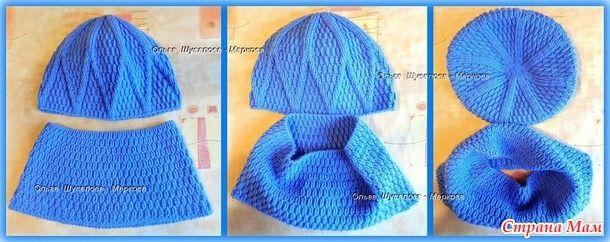 Две зимние шапки по готовым описаниям