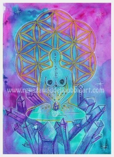 Flower of life series  Abundance  www.renezawaddellbubbleart.com