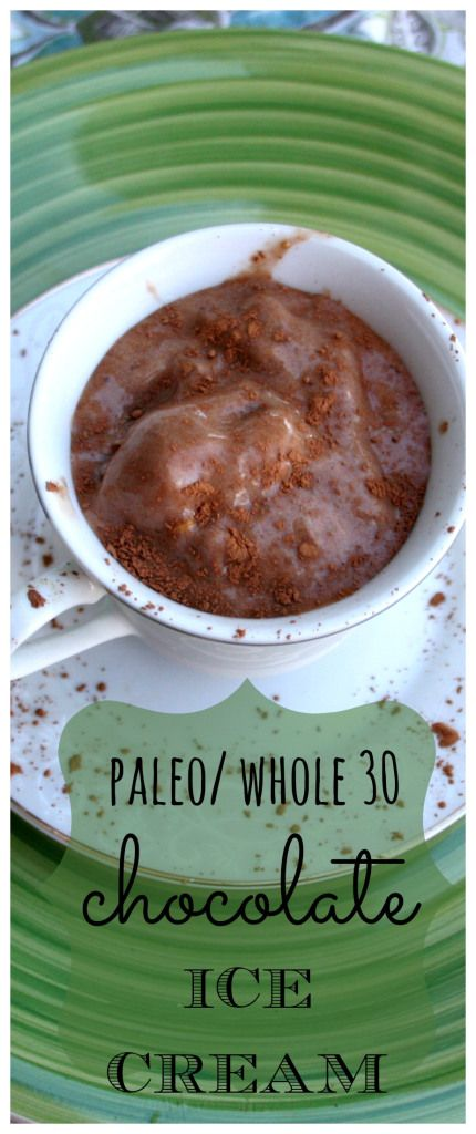 This #paleo + whole 30 chocolate ice cream will fill your craving for a sweet, creamy treat! #gf