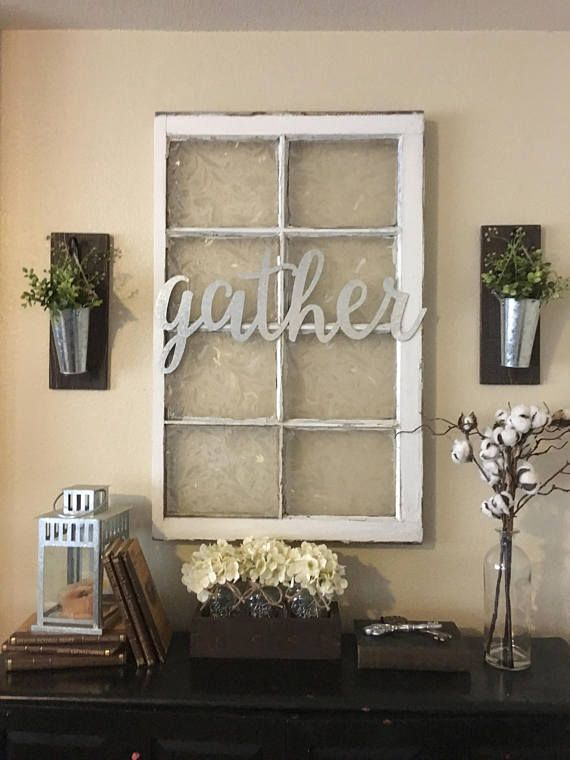 Metal Gather Sign, Gallery Wall Decor, Gather, Home Decor, Farmhouse Wall  Decor, Gather Signs, Galvanized Metal, Home Accents In 2019 | Saving The  Pins ...