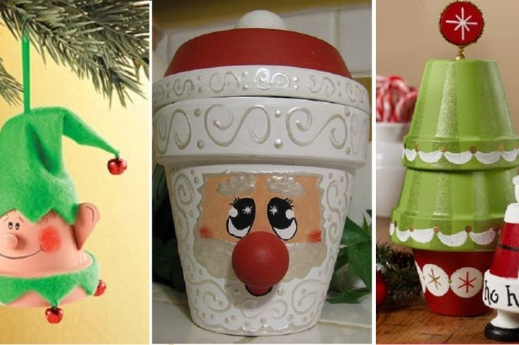 24 d corations de no l faire avec des pots en terre - Decoration avec des pots en terre cuite ...