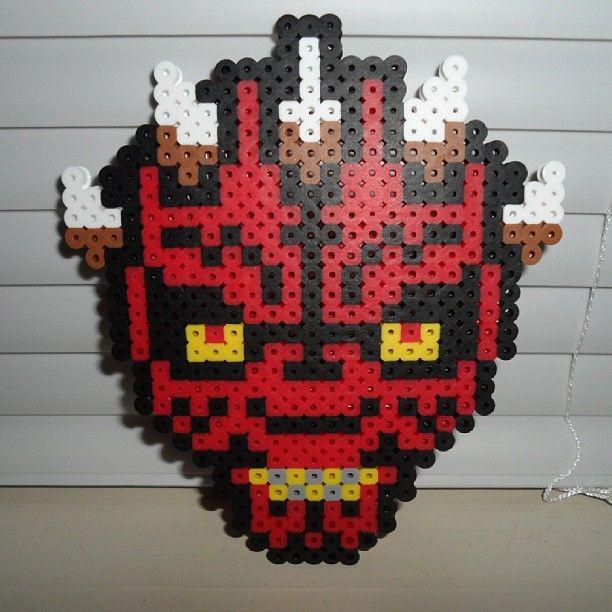 Star Wars Darth Maul perler beads by dre_edgelife