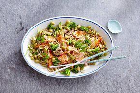 Kijk wat een lekker recept ik heb gevonden op Allerhande! Aziatische noedelsalade met edamame bonen van Bonduelle (advertorial)
