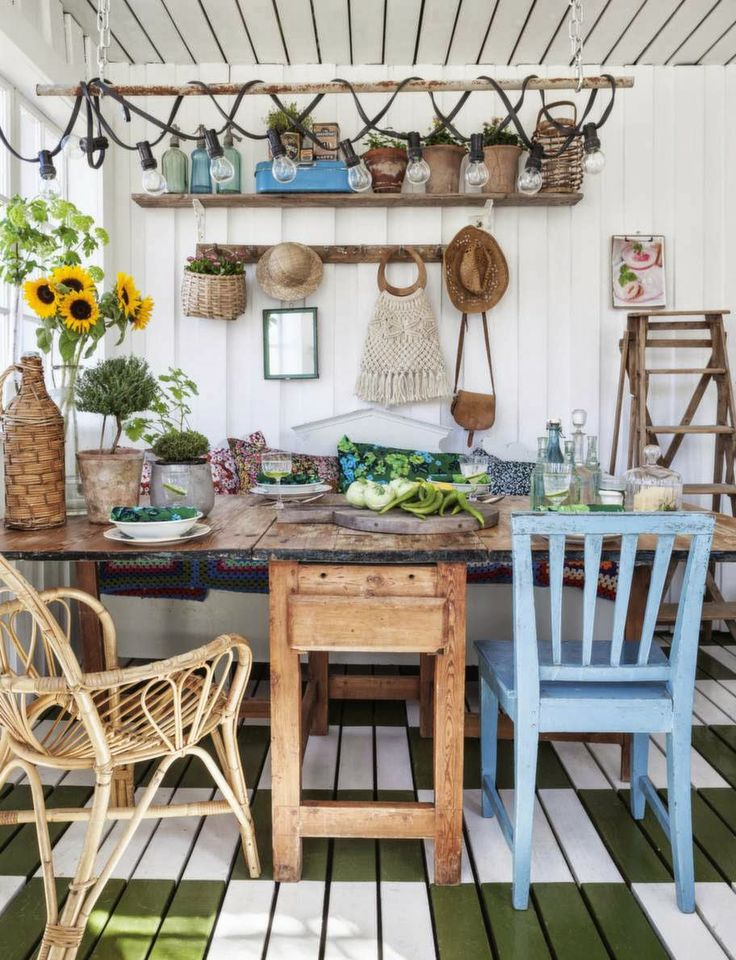 HOME & GARDEN: Ambiance bohème au jardin d'hiver