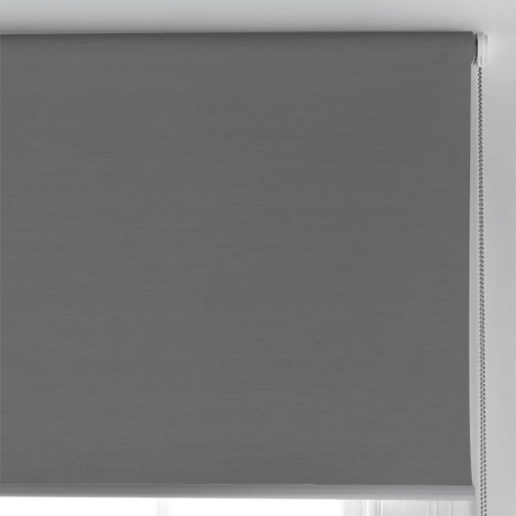 Ashcroft Charcoal Roller Blind 150x210cm Blockout - Blinds - Readymade Curtains & Blinds