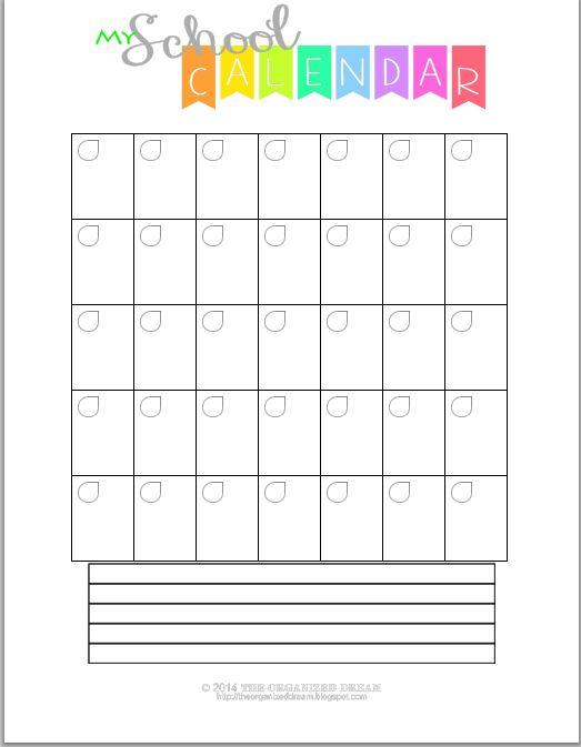 Blank Calendar To Fill In : Best ideas about blank calendar on pinterest