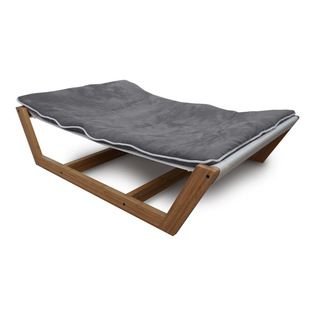 Pet Lounge Studios - Bambu Nautical Hammock ll, Gray, Large - There is no need to sacrifice your finely planned home décor any longer while trying to integrate your pet into your home. We have done it again with our newest and most refined pet furniture piece ever, the Bambú Pet Hammock II. This incredible design is created with a sustainable and solid bamboo frame, a very unique mattress support system and the highest quality removable and washable cushion. Inspiration was drawn directly…