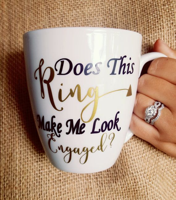 The PERFECT engagement gift for the new bride! Option to add the Future Mrs. name to the back of the mug for an additional $5.00 ~HOW TO…