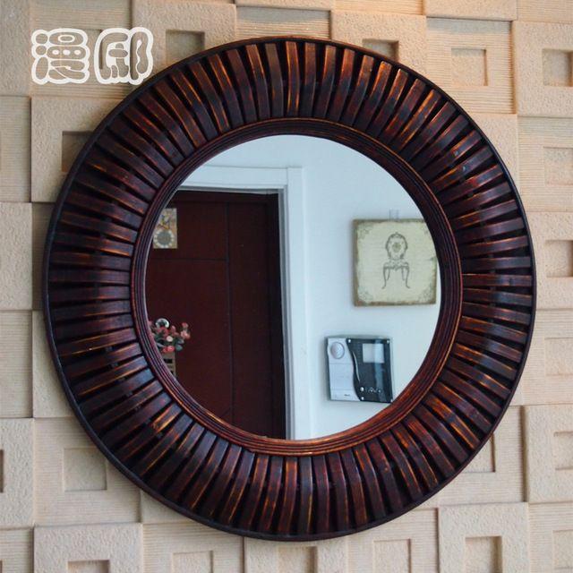 M s de 25 ideas incre bles sobre espejo de bamb en for Espejo grande redondo