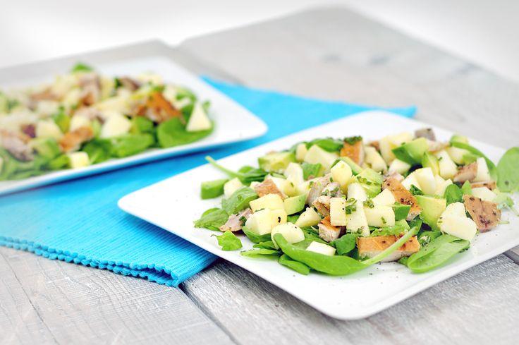 Makreelsalade met appel en avocado