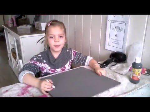 Zelf snel krijtverf maken met gips. SIMPEL! - YouTube