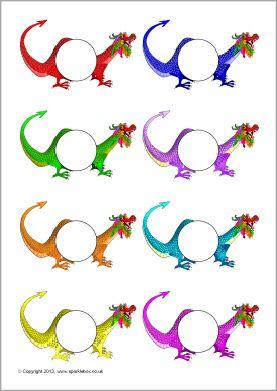 Pupil self-registration Chinese dragons (SB9135) - SparkleBox