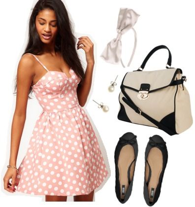 LolitaFashion, Dresses Outfit, Pale Pink, Bustiers Dresses, Inspiration Outfit, Bustiers Skater, Pink Polka Dots Dresses, Skater Dresses, Spots Bustiers