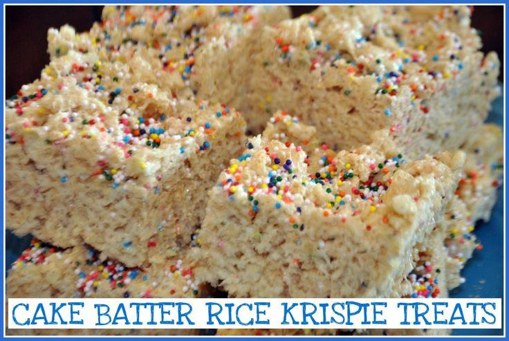 Cake Batter Rice Krispie Cupcake Recipe