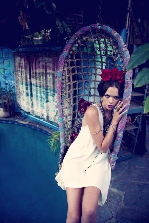 Valeria Efanova by Zoey Grossman for the For Love and Lemons Summer 2012 lookbook.