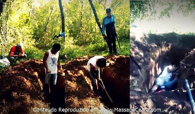 Vídeo mostra homens cavando a própria cova antes de serem mortos a tiros e queimados; veja: ift.tt/2xIecmt