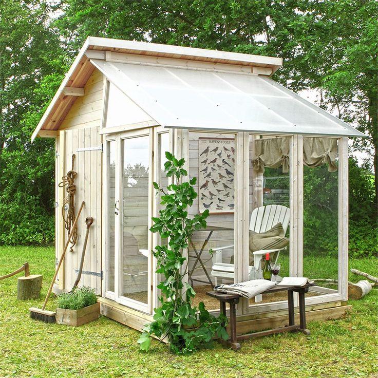 Växthus PLUS Med Förråd 6,6 m2 - Växthus trä - Växthus - Bygghemma.se