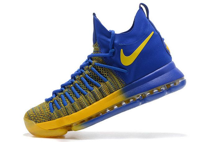 Cheap KD 9 IX Elite Golden State Warriors Gradient Gold Royal Newest Kevin Durant Shoes