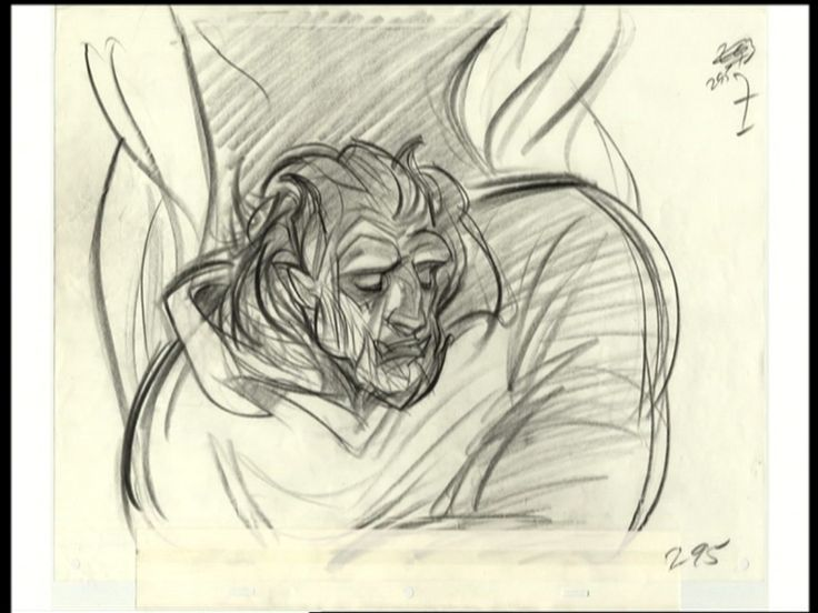 Beauty and the Beast transformation - Glen Keane
