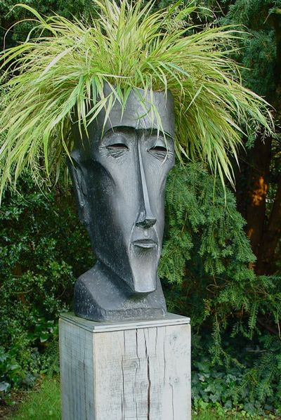 I love fun and whimsical in the garden. This planter head really delivers!