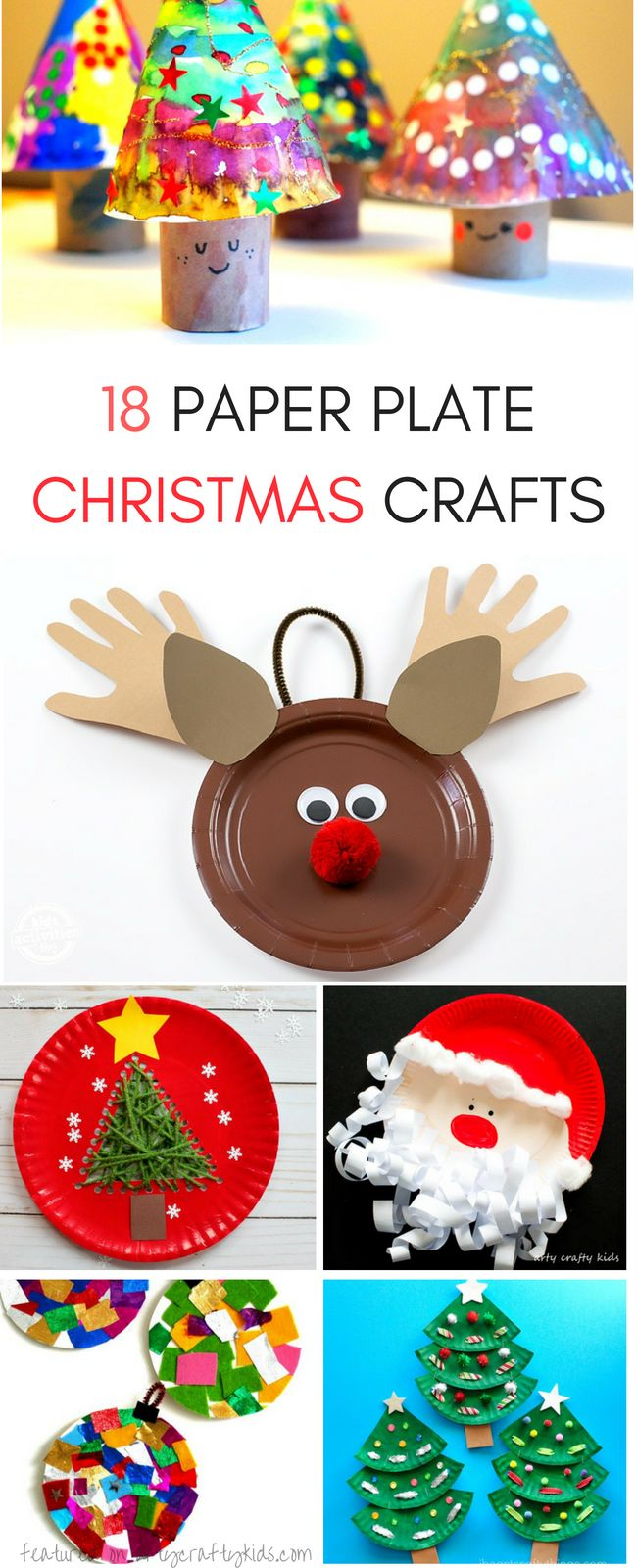Fabulous Paper Plate Christmas Crafts