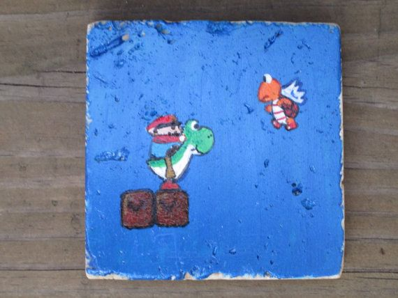 Super Mario coaster Mini Mario Yoshi & Flying by AlwaysAddColor