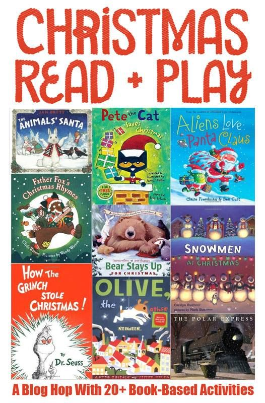 20+ Book Based Activities for Christmas.  A fun way to Read and Play with your child this holiday season.
