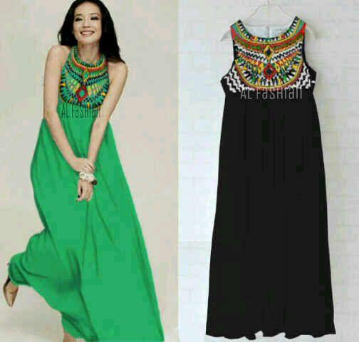 Tunik dress bahan spandek dada sablon Rp. 75.000 fit L