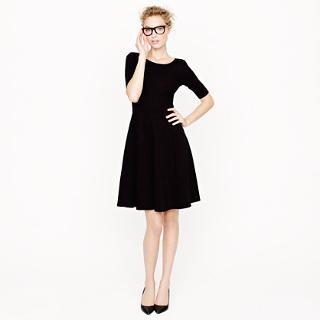Little black dress from   Jcrew: A Lin Pont, Flare Pont, Woman S Dresses, J Crew, Pont Dresses, Jcrew Work, Little Black Dresses, Simple Black, Jcrew Dresses