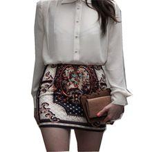 2016 Vintage Boho Floral impresión Totem mujeres OL Sexy Stretch delgado lápiz paquete apretado Mini falda corta de las ventas calientes S-3XL(China (Mainland))