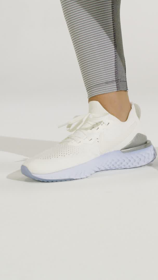reputable site 60eea 3378a Run your most colorful, comfortable miles ever in soft silver—a new Epic  React 2 color on Nike.com. Bounce over to Nike.com and grab your pair.