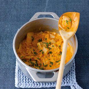 Chinakohl mit Tomatensahne(Vegan Curry)