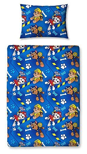 Children's Cot Bed / Junior / Toddler Bed Duvet Cover and Pillowcase Sets - 120cm x 150cm (Paw Patrol 'Rescue'): Amazon.co.uk: Kitchen & Home