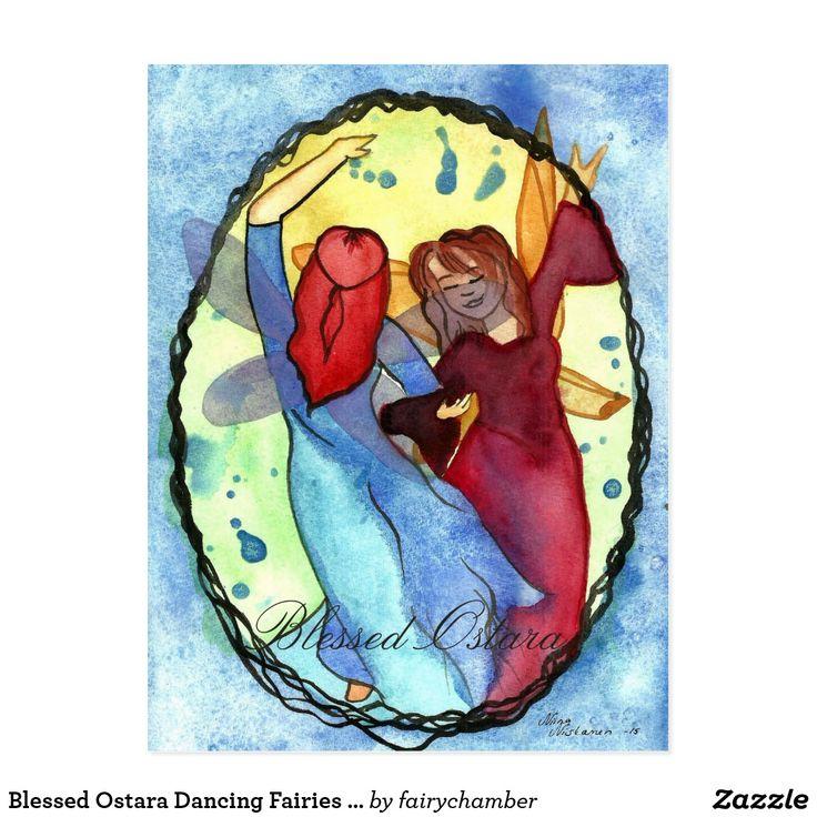 Blessed Ostara Dancing Fairies Postcard