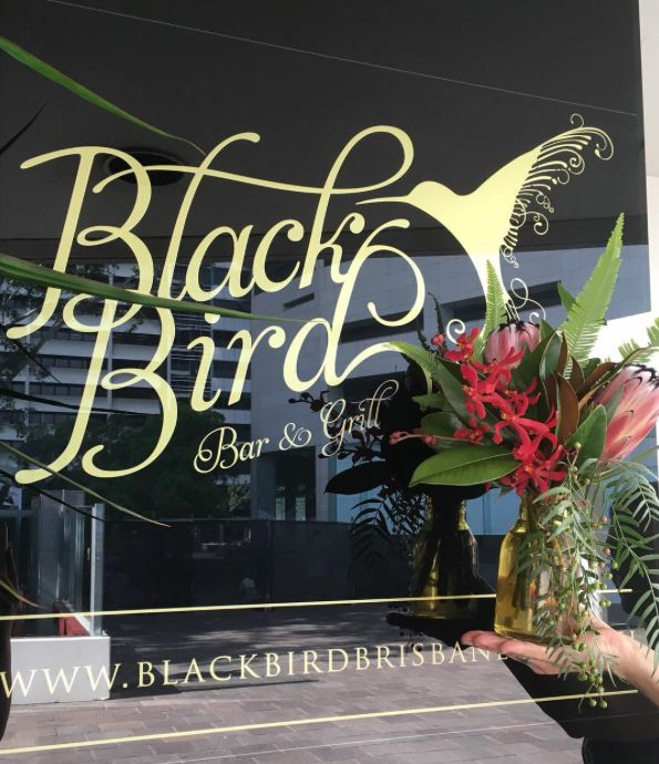 Petite florals for our favourite Blackbird Bar and Grill.