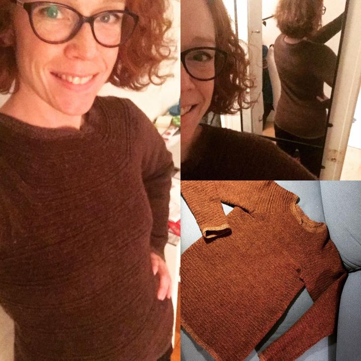 Needlebound / nalbound sweater made (from the bottom) with two-threaded Rauma Finull, repeatedly using 2 rows of an own stitch + 4 rows of the dalby stitch etc, by Nina Fröberg. Started on in June, 2016. Posted [in English + (some Swedish discussion)] 2016-10-27 in Posted [in English] 2016-06-19 in the Nålbinding : stitch-along sweater group @ Facebook. Please see link for original post!