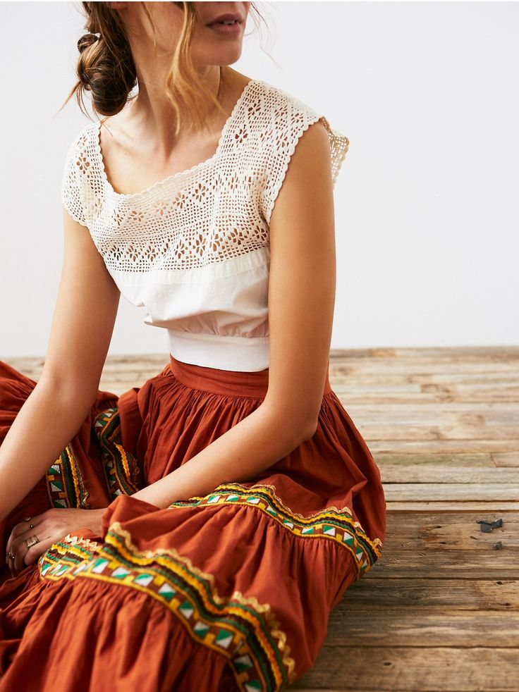 Vintage Victorian Tank Top | Victorian-inspired tank top featuring crochet detail and cotton paneling.